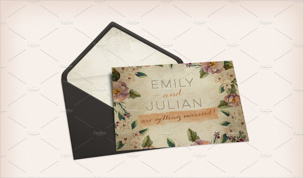 standard wedding invitation envelope