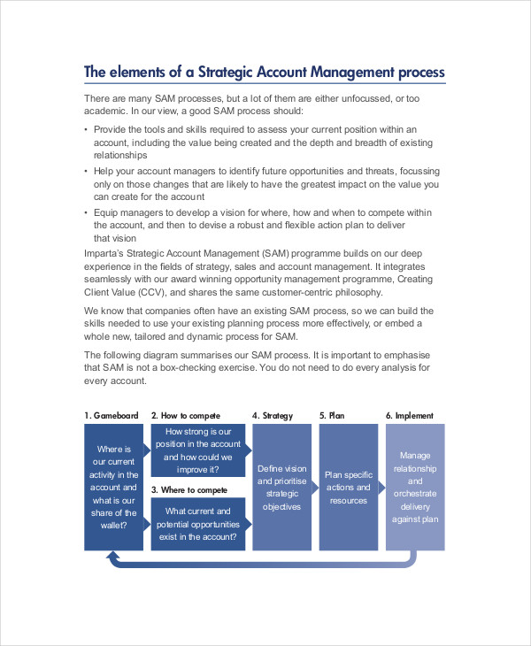 strategic account sales plan