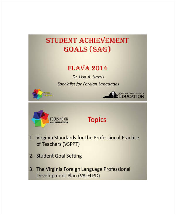 student achievement smart goals1