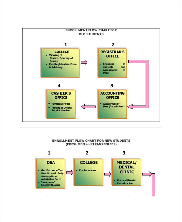 student enrollment flow chart