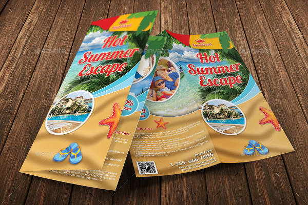 summer vacation brochure