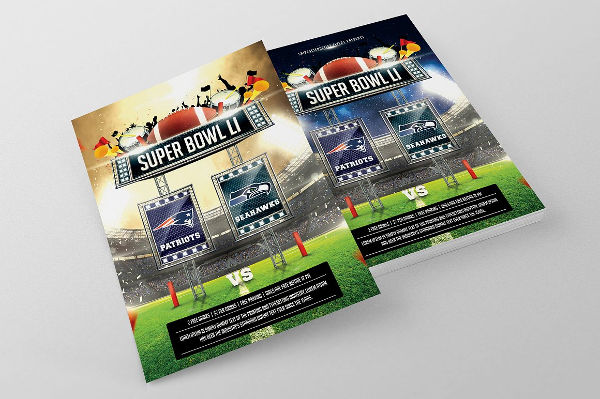 super bowl party flyer psd