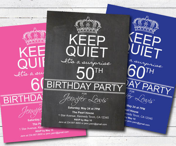 surprise birthday party flyer1