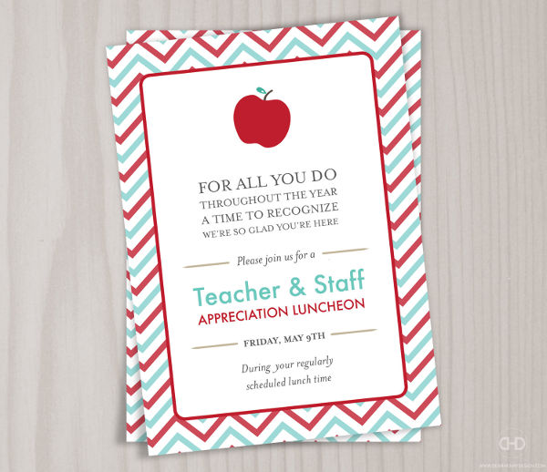 Teacher Appreciation Lunch Invitation