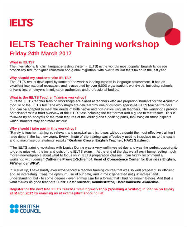 teacher training workshop
