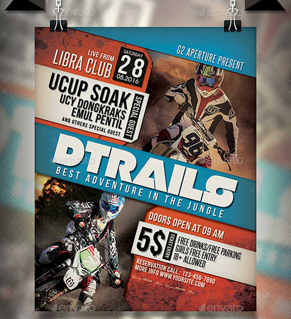 trail adventure event flyer
