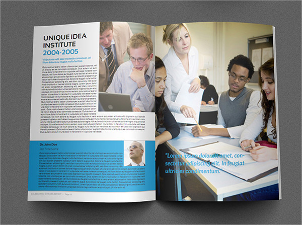training company psd brochure