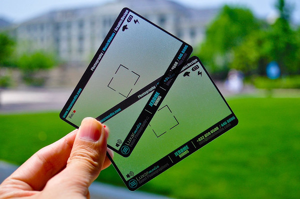 transparent photography business card
