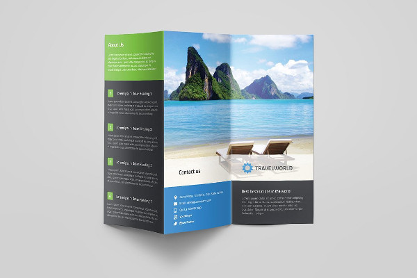 travel advertising tri fold brochure1