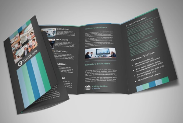 tri fold conference brochure