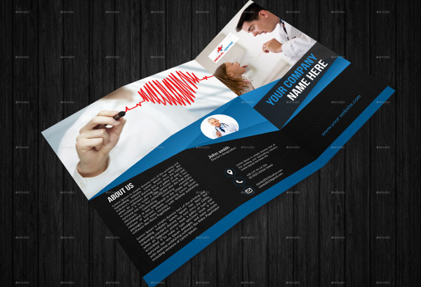 tri fold health business brochure