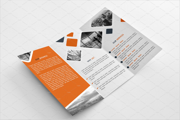 tri fold multipurpose business brochure