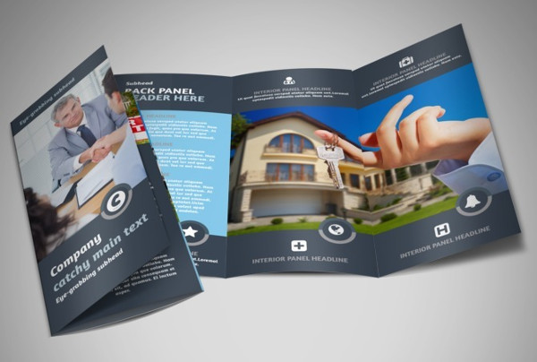 tri fold real estate property brochure