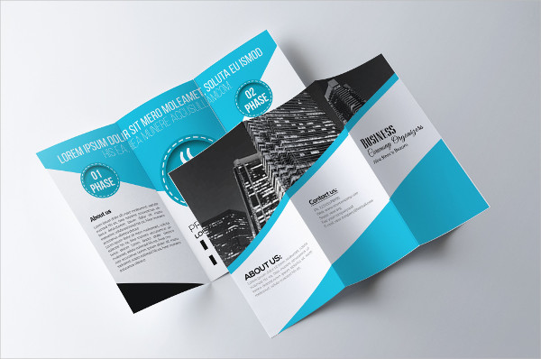trifold advertising company brochure