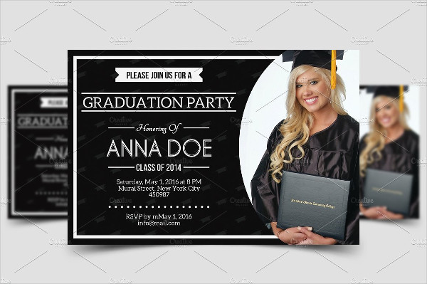 unique college graduation invitation