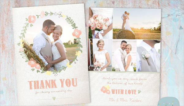 unique wedding thank you card