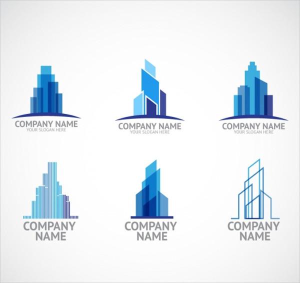 vector building company logo