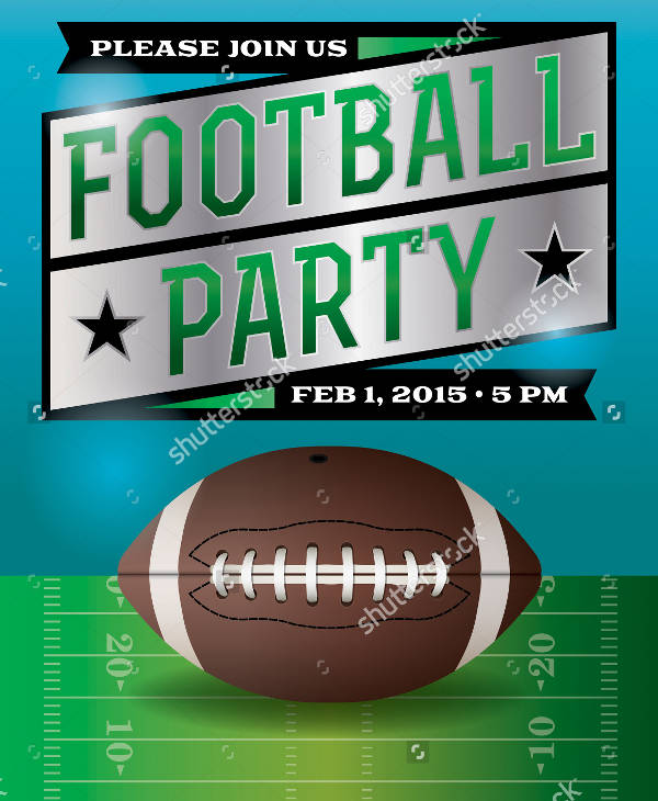 vector football party flyer