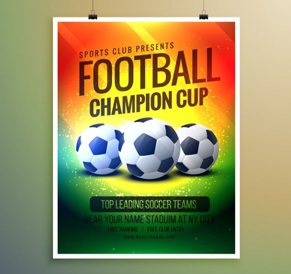-Vector Sports Event Poster