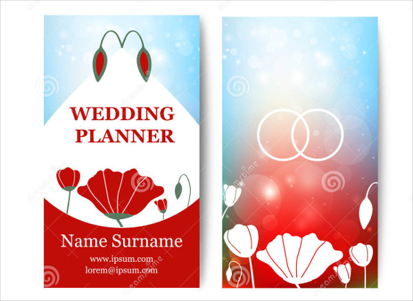 vector wedding business card