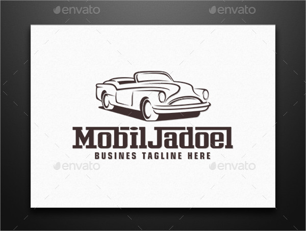 vintage car company logo