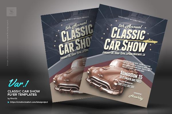 vintage cars event flyer