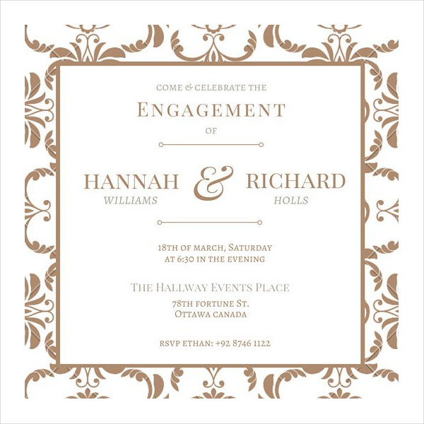 vintage engagement party invitation