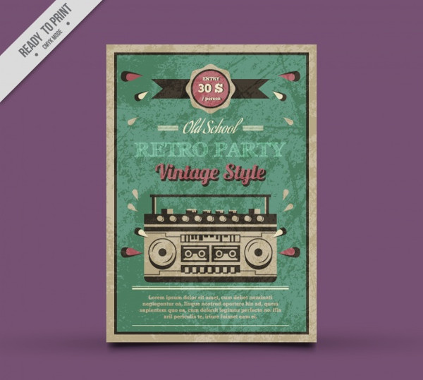 -Vintage Music Event Poster