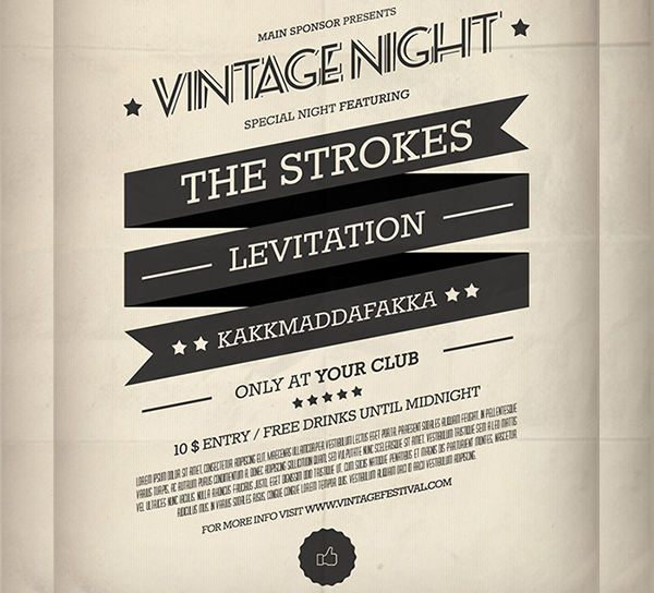 -Vintage Night Event Poster