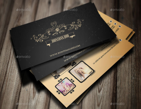 -Vintage Photography Business Card