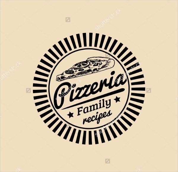 vintage pizza restaurant logo