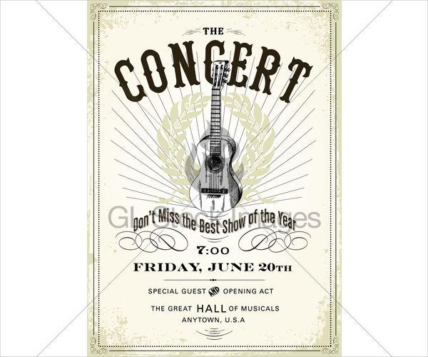 vintage standard concert poster2