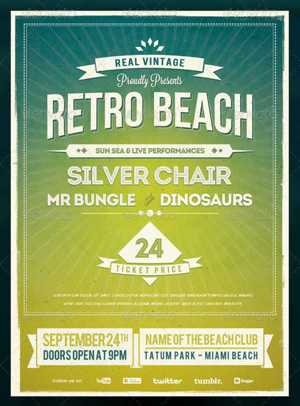 vintage summer beach poster