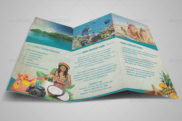 Vintage Tri Fold Travel Brochure