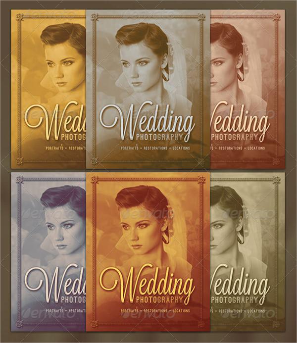 vintage wedding photography flyer