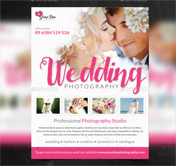 wedding a4 photography flyer
