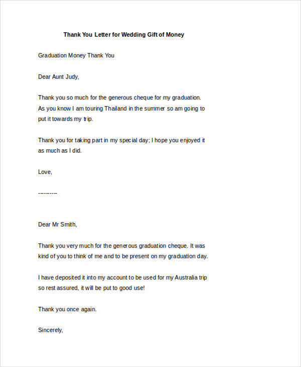 73 Thank You Letter Examples Doc Pdf Examples
