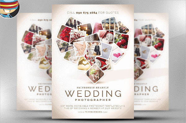 wedding photography advertising flyer