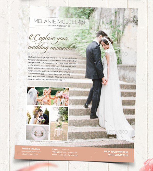 wedding photography photo flyer