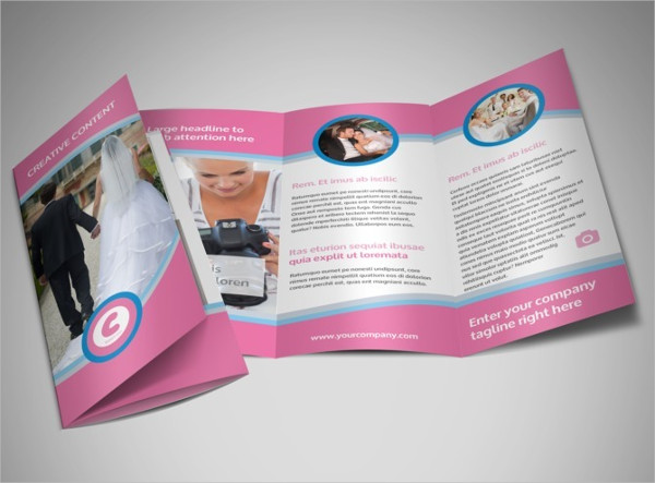 Wedding Photography Tri Fold Brochure