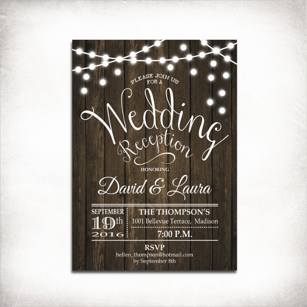 wedding reception party invitation