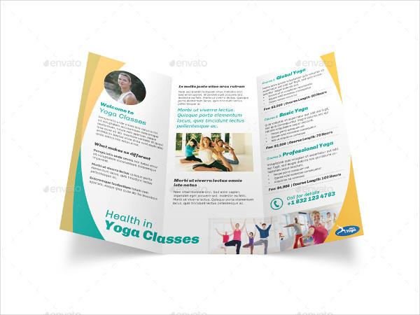 Yoga Fitness Tri Fold Brochure
