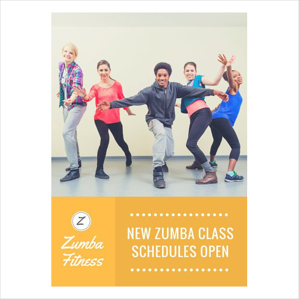 Zoomba Dance Fitness Flyer