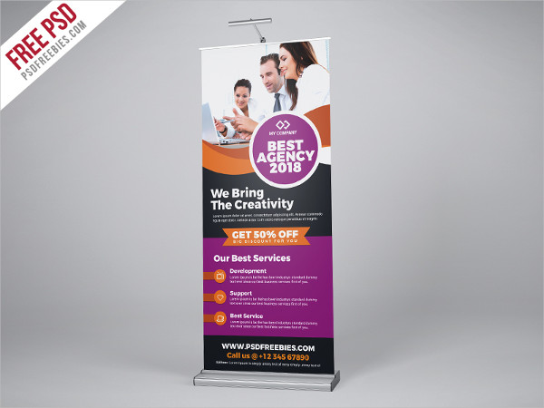 Free 32 Roll Up Banner Designs Amp Examples In Psd Ai