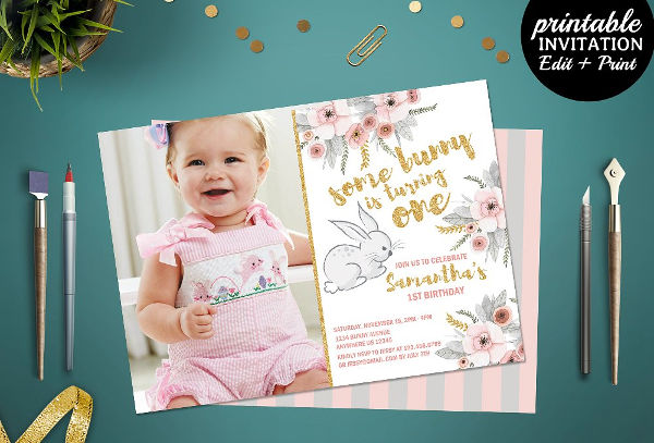 -1st Birthday Invitation