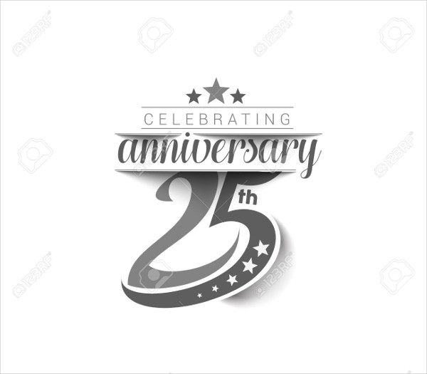 25th wedding anniversary logo