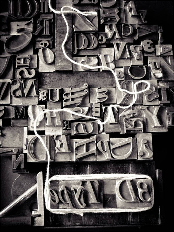 3d typography poster