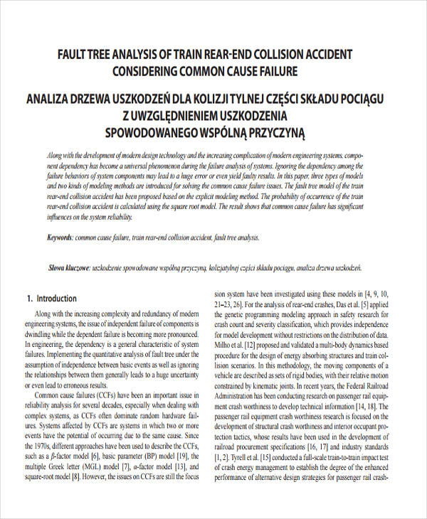 accident fault tree sample