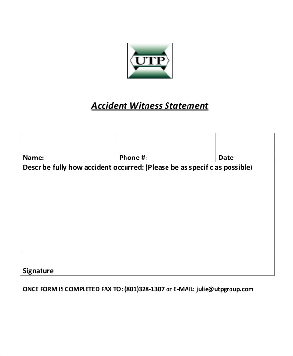 Witness Statement Examples  Samples