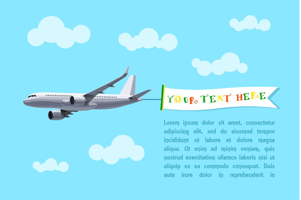 air travel advertising banner
